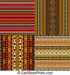 decorativo, africano, patrones