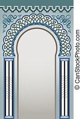 decorativo, arco, desenho