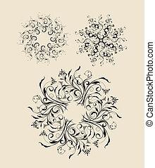 decorativo, astratto, 2, ornamenti