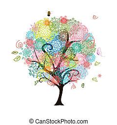 decorativo, astratto, albero
