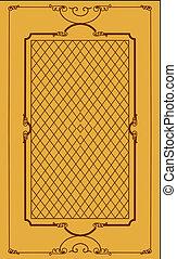decorativo, backgroun, marco, marrón