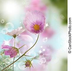 decorativo, bello, fiore, disegno