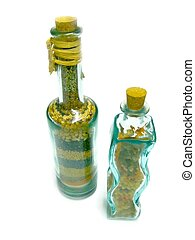 decorativo, botellas