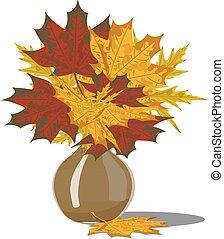 decorativo, buquet, de, outono sai