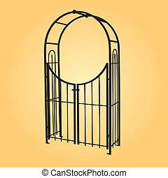 decorativo, cancello