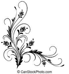 decorativo, canto, ornamento
