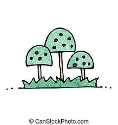 decorativo, caricatura, árvores