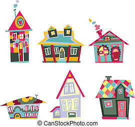 decorativo, casas