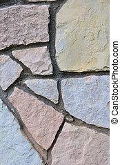 decorativo, cerca de piedra, vertical, stonewall, plano de ...