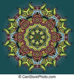decorativo, cerchio, ornamento