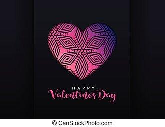 decorativo, cuore, disegno, giorno, valentine