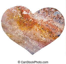 decorativo, cuore, marmo, struttura