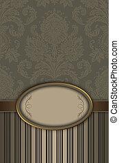 decorativo, elegante, floral, frame., plano de fondo