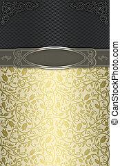 decorativo, elegante, frame., plano de fondo, patrones