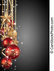 decorativo, espaço, texto, livre, fundo, Natal