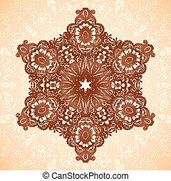 decorativo, estrella, patrón, seamless, indio, mehndi, mandala, estilo