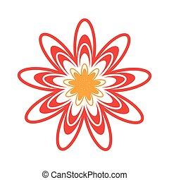 decorativo, fiore, disegno