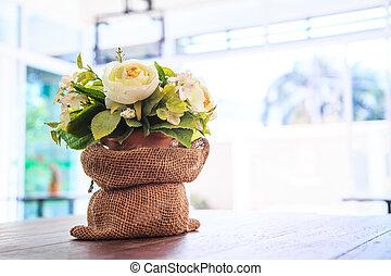 decorativo, flor, fundo
