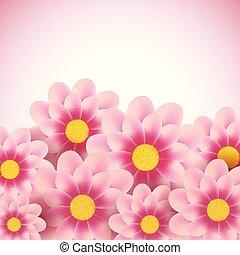 decorativo, floral, 1307, fundo