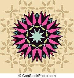 decorativo, floral, forma