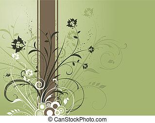 decorativo, floral, fundo