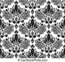 decorativo, floral, ornamento, seamless