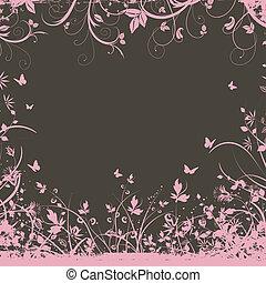 decorativo, floral, plano de fondo