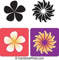 decorativo, flores, 2