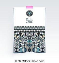 decorativo, folha, papel, oriental, projeto floral