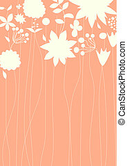 decorativo, fondo, floreale