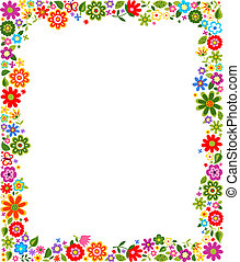 decorativo, frontera floral, patrón