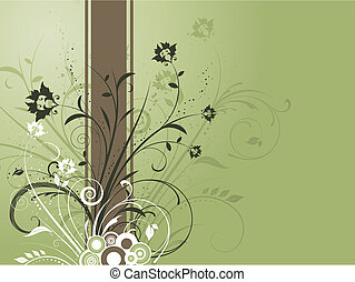 decorativo, fundo, floral