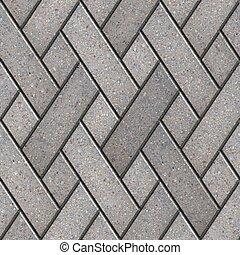 decorativo, gris, fragmento, patrón, pavimentar, slabs.