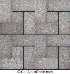 decorativo, gris, rectangular, pavimentar, slabs.