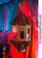 decorativo, indianas, lanterna