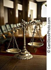decorativo, justiça, sala audiências, escalas