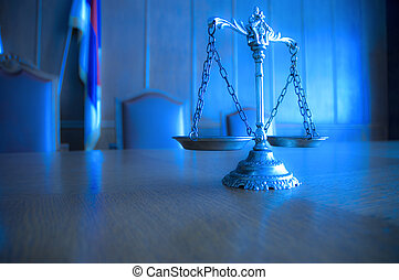 decorativo, justicia, courtroom, escalas