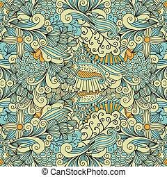 decorativo, luz, colores, étnico, patrón