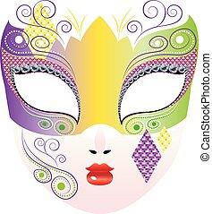 decorativo, máscara carnaval