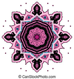 decorativo, mandala., indianas, pattern.