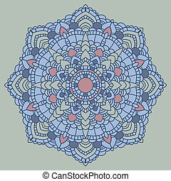 decorativo, mandala., indiano, pattern.