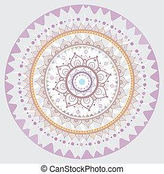 decorativo, mandala., indio, pattern.