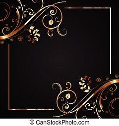 decorativo, marco, 1103