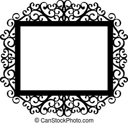 decorativo, marco