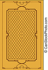 decorativo, marco, en, marrón, backgroun