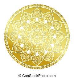 decorativo, matrimonio, tribale, oro, vendemmia, astratto, pattern.arabic, fondo., ornament.mandala, mandala, texture.