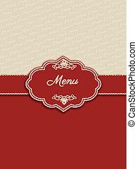 decorativo, menu, desenho