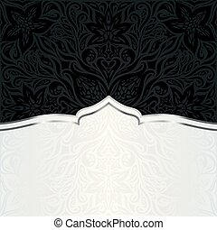decorativo, moda, oro, &, carta da parati, floreale, nero, lusso, fondo, trendy, disegno, mandala
