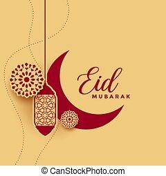 decorativo, mubarak, islámico, tradicional, eid, plano de fondo, diseño