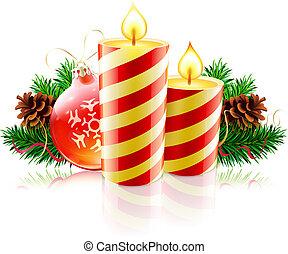 decorativo, natal, composição